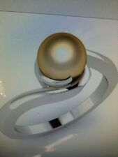 Golden Pearl 1.73ct, Ring white gold- New !! size 8 (Q)
