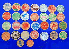 milk bottle : 30 lovely old British dairy cardboard caps collection #2