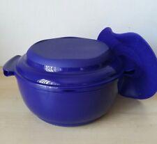 Tupperware Crystalwave Microwave Steamer Set Bowl Tokyo Blue New