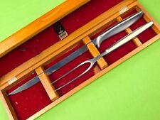 Vintage US Gerber Carving Set Siegfried Balmung Knife Fork w/ Box