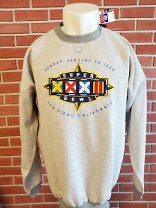 Super Bowl XXXII 1998 Long Sleeve Sweatshirt Mens XL Deadstock NWT Vintage NEW