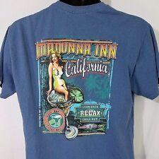 Madonna Inn T Shirt San Luis Obispo California Pin Up Girl Blue Mens Size M