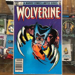 Wolverine #2 - Limited Series Set 1982 Frank Miller Marvel Comics Newstand