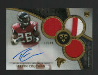 2015 Topps #126 Tevin Coleman Triple Jersey/Patch Autograph Rookie 17/99-Falcons