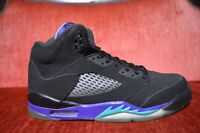 NIKE AIR JORDAN RETRO V 5 BLACK GRAPE AQUA GS Size 6.5 Y 440888-007