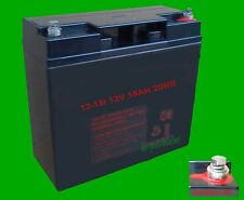 BATTERIE AKKU 12V 18AH AGM M5 USV RBC SOLAR NOTSTROM  Plus Bonus Stirnlampe