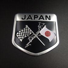 Japan Japanese Flag Shield Emblem Metal Badge Car Motorcycle Sticker 50 x 50mm