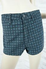 WRANGLER navy blue velvet gothic pattern high waisted cheeky shorts size 8 BNWT