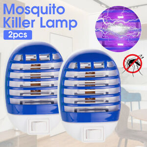 2pcs Electric UV Insect Killer Mosquito Fly Pest Bug Zapper Trap LED Light Lamp