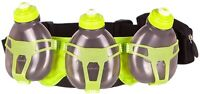 FuelBelt H2O Helium 3 Bottle Hydration Belt Black Adjustable Running Waist Bag