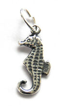 One sterling silver sea horse charm/pendentif + open jump ring, 16 x 7 mm