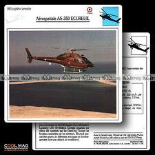 #011.06 AEROSPATIALE AS 350 ECUREUIL (Hélicoptère) - Fiche Avion Airplane Card