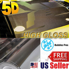 "60""x 5FT Premium High GLOSSY 5D Carbon Vinyl Wrap Sticker Film Sheet BUBBLE FREE"