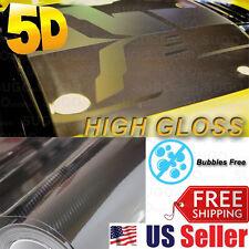 "60""x 5FT Premium High GLOSSY 5D Carbon Vinyl Wrap Sticker Film Sheet BUBBLE FREE"