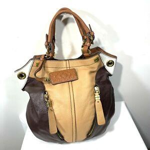 orYANY Pebble Leather Color-Block Victoria Large Hobo  ([U150