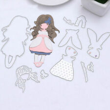 Girl Metal Cutting Dies Stencil Scrapbooking Paper Card Embossing Craft Decor