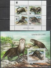 Mozambique 2016 wwf clawed otter animals klb+s/s MNH