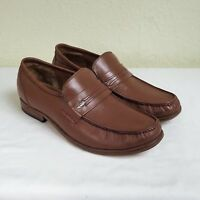 Samuel Windsor UK 8 Prestige Penny Loafer Hand Made Leather Slip On Shoes Brown