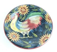 Certified International Rooster Plate with Hanger Susan Winget #1