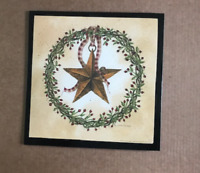 berry vine wreath metal barn star country primitive wood home wall decor sign