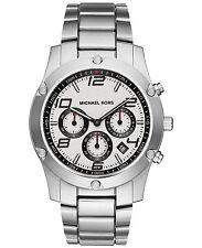 NWT Michael Kors Men's MK8472 Chronograph Caine Steel Bracelet Watch 45mm $295
