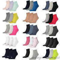 PUMA Sports Socks Mens Womens Ladies (3 Pair Multipack) Cotton Quarters UK 2-14