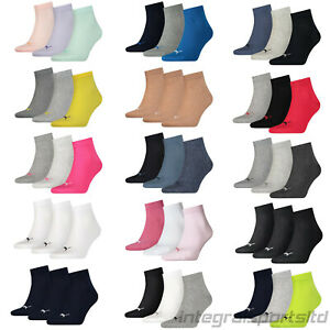 PUMA Sports Socks Mens Womens Ladies (3 Pair Multipack) Cotton Quarters UK 2-14