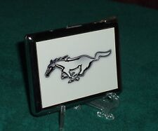 FORD MUSTANG LOGO CIGARETTE CASE w BUTANE LIGHTER