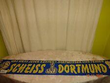 """Schalke,München Anti Dortmund Schal """"WAS WEISS JEDER KENNER?SCHEISS DORTMUNDER"""""""