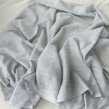EXCLUSIVE HANDWOVEN LIGHT GREY 100% CASHMERE SHAWL VERY SOFT NEPAL