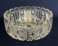 Antique Edwardian American Brilliant clear cut crystal bowl 1900s 1910s