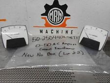 General Electric 50-250440LSNT1 A-C Amperes Meter RTG 0-5A 40/70Hz AC (Lot of 2)