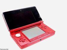 ORIGINAL NINTENDO 3DS / 3 DS KONSOLE - ROT / RED METALLIC - (Guter Zustand) #887