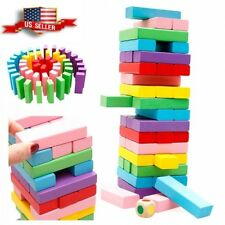 Colorfu classic Tower Games Building Blocks Wooden Tumbling Set- 48 Pcs US sell
