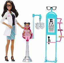 Barbie Careers Eye Doctor African-American Doll and Playset - CKJ73