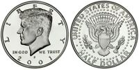 2001-S Silver Proof Kennedy Half Dollar - Gem Deep Cameo Proof -Silver Proof Set