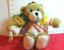 "Christmas, Bear,Nutcracker,with Stick Horse, Plush, 10"", CE, Gibson Greetings"