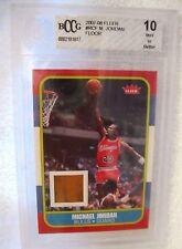 Michael Jordan 2007-2008 Fleer (1986 Fleer Style Rookie) Floor Card Graded GEM10
