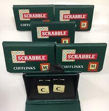 Scrabble Novelty Letter Cufflinks Gift Box