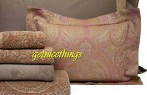 New Yves Delorme Baupre Paisley Boudoir Pillow Sham Jacquard Woven 100% Cotton