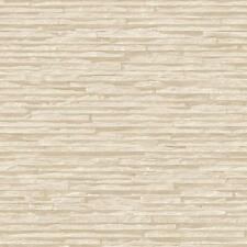 Muriva Bluff Slate Pattern Stone Brick Cream Vinyl Embossed Wallpaper J27607
