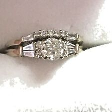 14K White Gold 1 Carat Diamond Wedding Set Size 7.5