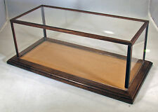 Walnut Model Car Display Case  w/Tan Felt Floor- 1:24 Scale - C9