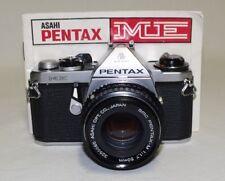 Vintage PENTAX 'ME' 35mm SLR Film Camera w/SMC-M f/1.7 50mm Lens & Manual Clean