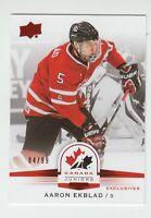 (56069) 2014-15 UPPER DECK TEAM CANADA JUNIORS RED SP AARON EKBLAD #101 (84/99)