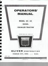 Oliver Oc 15 Cletrac Crawler Owners Operators Manual Diesel