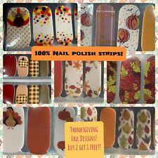 100% Nail Polish strip Buy 2 Get 1 Free! Thanksgiving Fall Pumpkin Turkey leaves