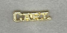 High School Team Captain Capt Letterman Jacket Pin gold tone