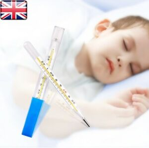 Classic Traditional Clinical Glass Mercury-Free Thermometer Celsius UK