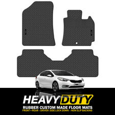 Custom HD Rubber Floor Mats for Kia Cerato YD Series Hatch + Sedan 2014-May/2018